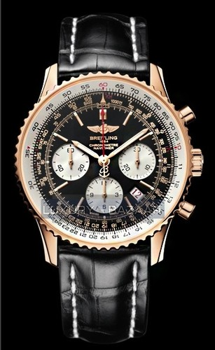Breitling Navitimer 01 Limited Edition (RG / Black / Leather Strap)