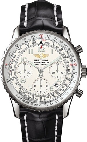 Breitling Navitimer (SS / Silver / Leather)
