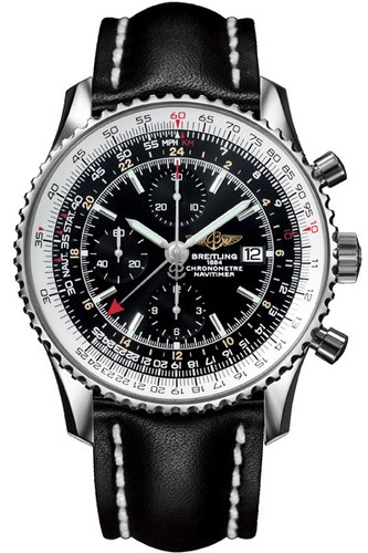 Breitling Navitimer World (SS / Black / Leather)