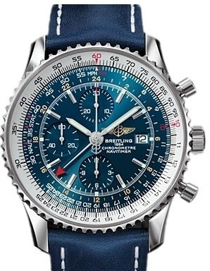 Breitling Navitimer World (SS / Blue / Leather)
