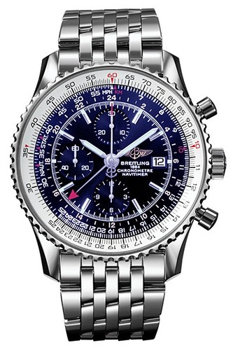 Breitling Navitimer World (SS / Blue / SS)