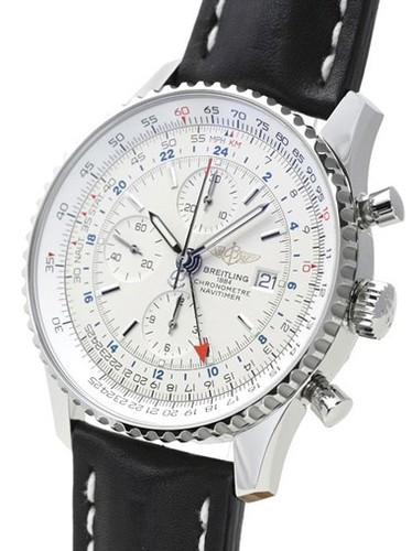 Breitling Navitimer World (SS / Silver / Leather)