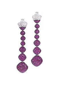 Cantamessa Bon Bon Ruby Earrings ER1521BBr
