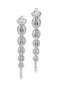 Cantamessa Maggiolino White Earrings ER 1523 MW