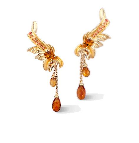 Серьги Carrera y Carrera Hoja Earrings DA14303 010422