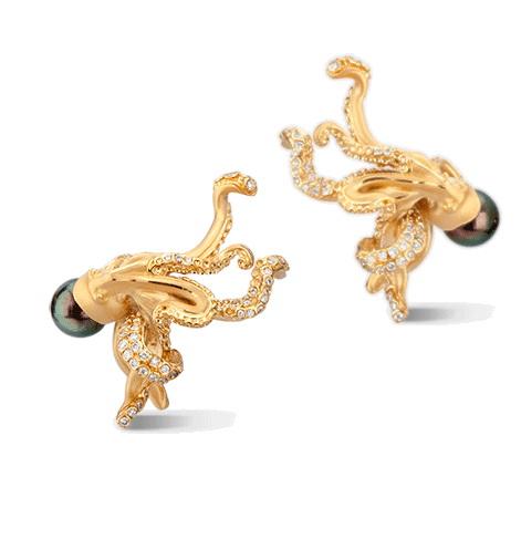 Серьги Carrera y Carrera Pulpo Medium Earrings DA14403 010508