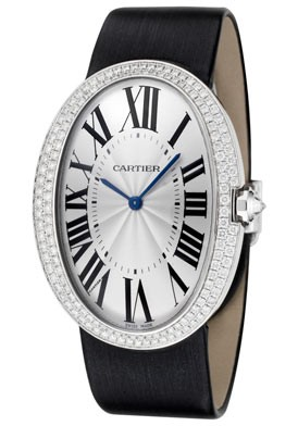 Cartier Baignoire Large (WG-Diamonds / Silver/ Fabric)
