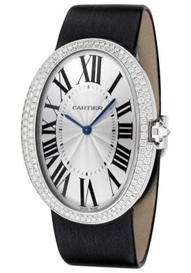 Cartier Baignoire Large (WG-Diamonds / Silver/ Fabric)