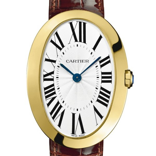 Cartier Baignoire Large (YG / Silver/ Leather)