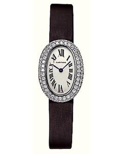 Cartier Baignoire Mini (WG-Diamonds / Silver/ Fabric)