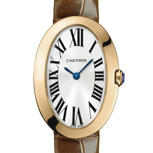 Cartier Baignoire Small (RG / Silver/ Leather)