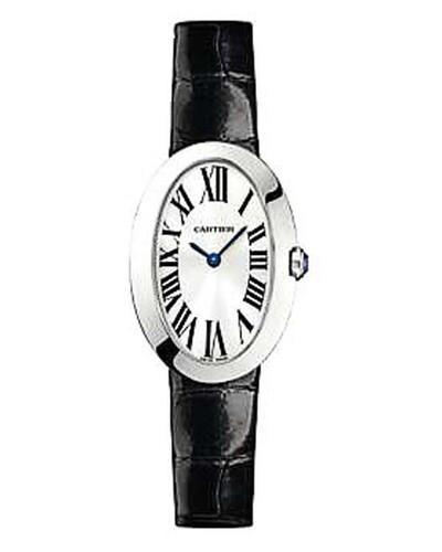 Cartier Baignoire Small (WG / Silver/ Leather)
