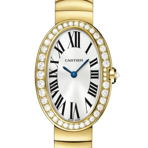 Cartier Baignoire Small (YG-Diamonds / Silver/ YG)