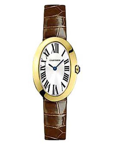 Cartier Baignoire Small (YG / Silver/ Leather)