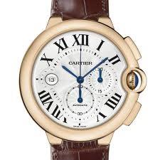 Cartier Ballon Bleu Extra Large Chronograph (RG / Silver/ Leather)