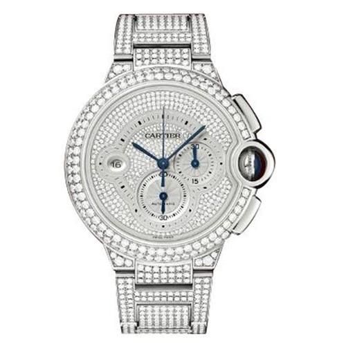 Cartier Ballon Bleu Extra Large Chronograph (WG-Diamonds/ Diamonds /WG-Diamonds)