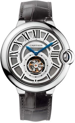 Cartier Ballon Bleu Flying Tourbillon (WG / Gray / Leather Strap)