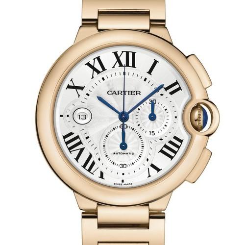 Cartier Ballon Bleu Large Chronograph (RG / Silver/ RG)