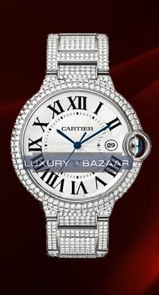 Cartier Ballon Bleu Large (WG-Diamonds/ Silver/WG-Diamonds)