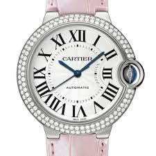 Cartier Ballon Bleu Medium (WG- Diamonds / Silver/ Leather)