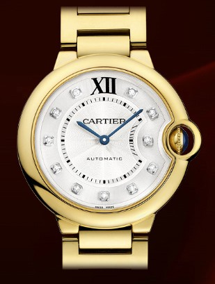 Cartier Ballon Bleu Medium (YG / Silver-Diamonds / PG Bracelet)