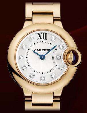 Cartier Ballon Bleu Small (PG / Silver-Diamonds / PG Bracelet)