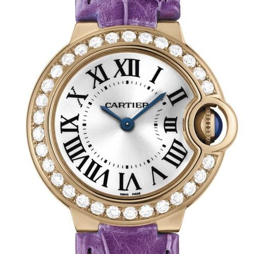 Cartier Ballon Bleu Small (RG- Diamonds / Silver/ Leather)