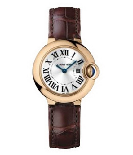 Cartier Ballon Bleu Small (RG / Silver/ Leather)