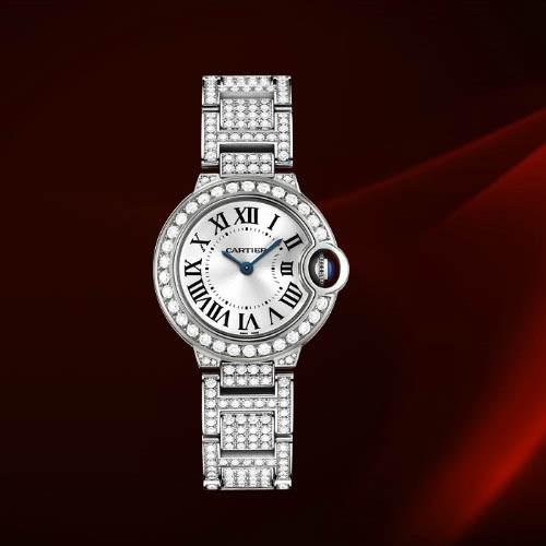 Cartier Ballon Bleu Small (WG-Diamonds/ Silver/WG-Diamonds)