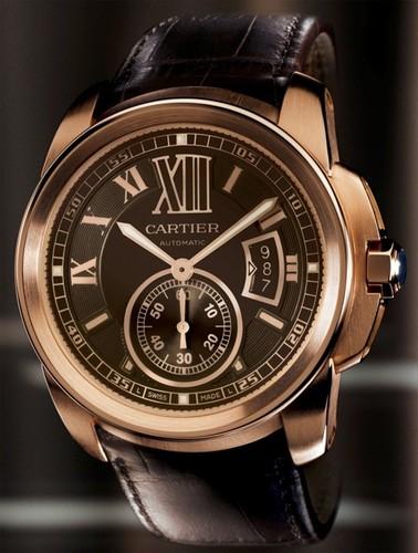 Cartier Calibre De Cartier (RG/ Chocolate/ Leather)