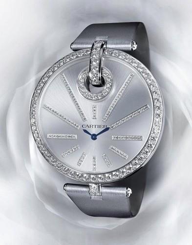 Cartier Captive De Cartier Extra Large (WG-Diamonds/ Silver -Diamonds / Fabric)