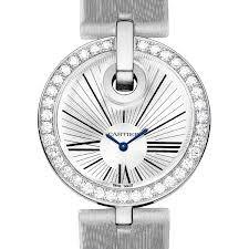 Cartier Captive De Cartier Large (WG-Diamonds/ Silver/ Fabric)