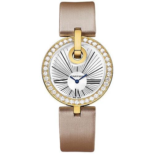 Cartier Captive De Cartier Large (YG-Diamonds/ Silver/ Fabric)