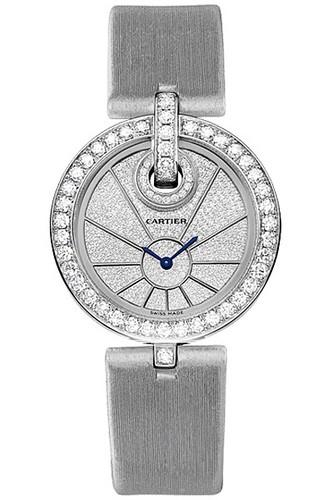Cartier Captive De Cartier Small (WG-Diamonds/ Diamonds / Fabric)