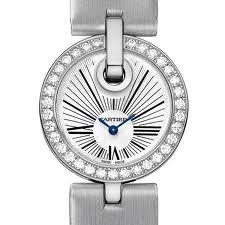 Cartier Captive De Cartier Small (WG-Diamonds/ Silver/ Fabric)