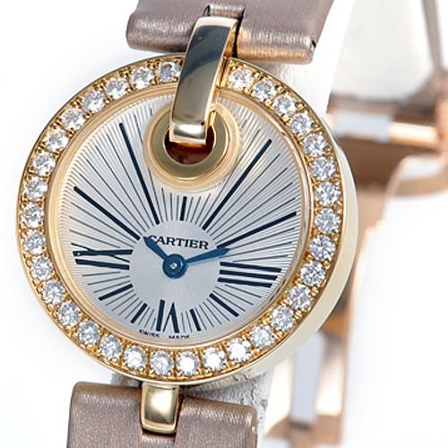 Cartier Captive De Cartier Small (YG-Diamonds/ Silver/ Fabric)