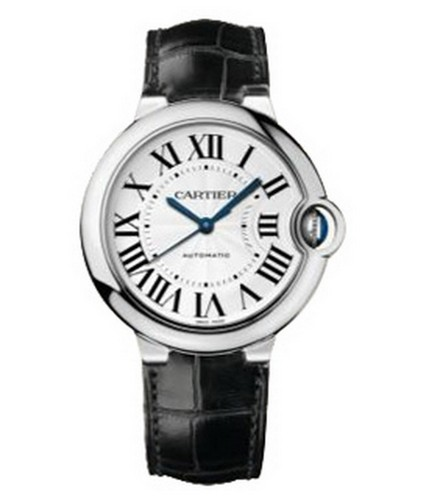 Cartier Cartier Ballon Bleu de Cartier Automatic Medium (WG / Silver / Leather Strap)