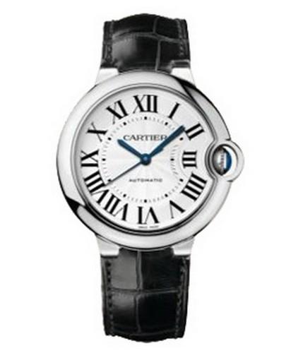 Cartier Cartier Ballon Bleu de Cartier Automatic Medium (WG / Silver / Leather Strap)