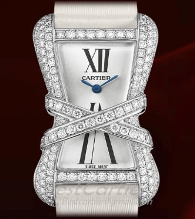 Cartier Cartier Libre Tank Enlacee (WG-Diamonds / Silver /Fabric)