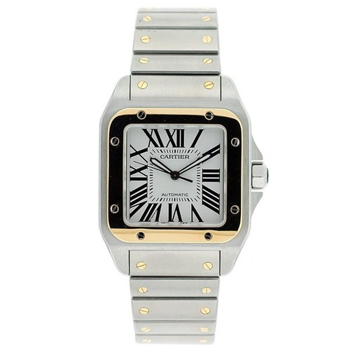 Cartier Cartier Santos 100 Extra Large 18kt Yellow Gold and Steel Mens Watch