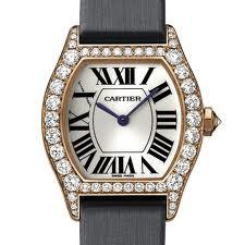 Cartier Cartier Tortue Small (RG- Diamonds/ Silver / Fabric )