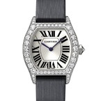 Cartier Cartier Tortue Small (WG- Diamonds/ Silver / Fabric )