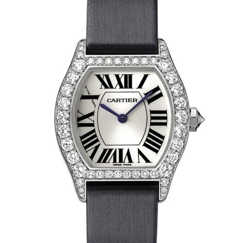 Cartier Cartier Tortue Small (WG- Diamonds/ Silver / Fabric )