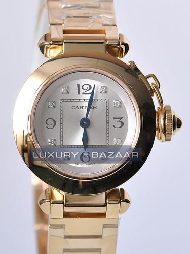 Cartier Miss Pasha (YG / Silver-Diamonds / YG)