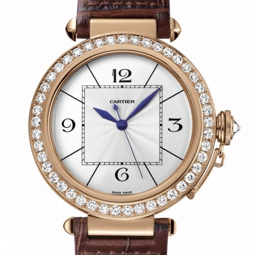 Cartier Pasha Extra Large (RG- Diamonds / Silver / Leather)