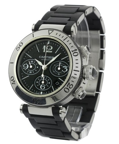 Cartier Pasha Seatimer Chronograph Extra Large (SS/ Black /Rubber)
