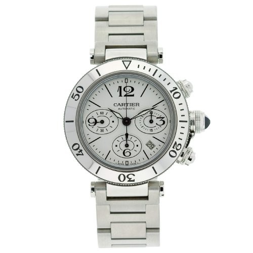 Cartier Pasha Seatimer Chronograph Extra Large (SS/ Silver / SS)
