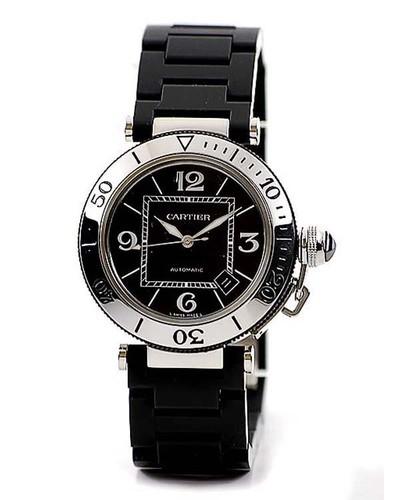 Cartier Pasha Seatimer (SS / Black / Rubber)
