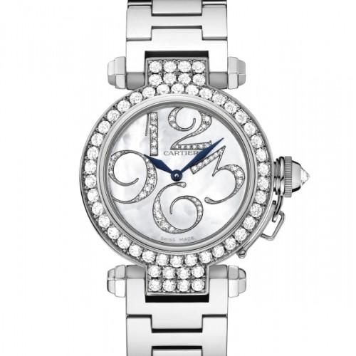 Cartier Pasha Small (WG- Diamonds / Silver-Diamonds / WG)