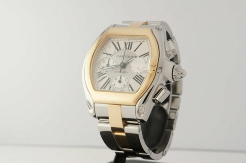 Cartier Roadster Chronograph (YG - SS / Silver / YG - SS)
